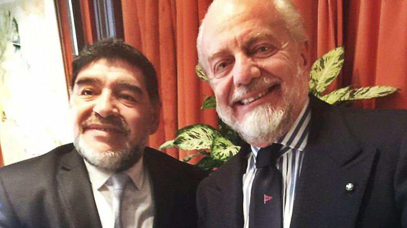 Napoli, la lettera di De Laurentiis a Maradona