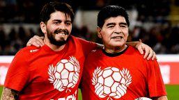 Maradona: l'addio amaro del figlio Diego Jr, bloccato da una polmonite