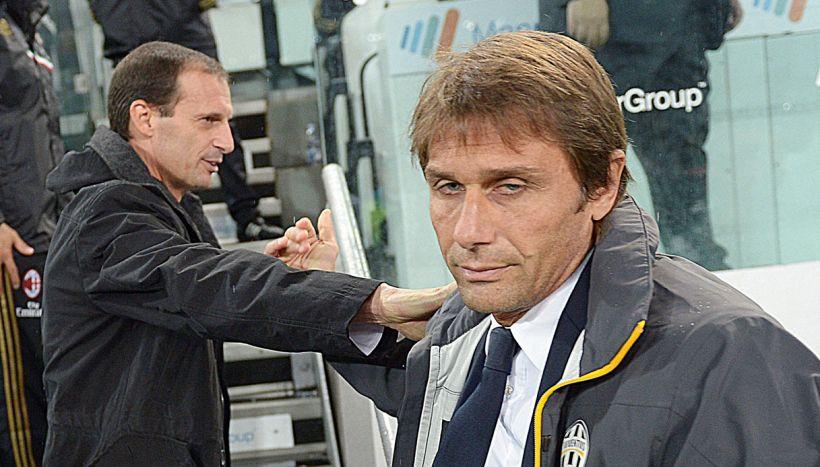 Bastoni e paragone Conte-Allegri: sui social scoppia Inter-Juve