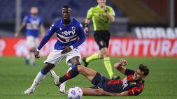 Sampdoria, Keita Baldé si fa male: previsto stop medio-lungo