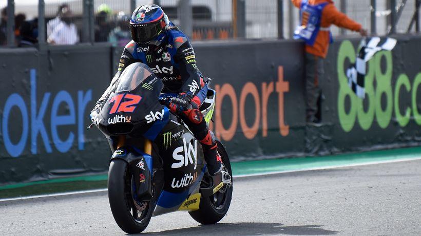 Moto2, il Gp d'Europa va a Marco Bezzecchi