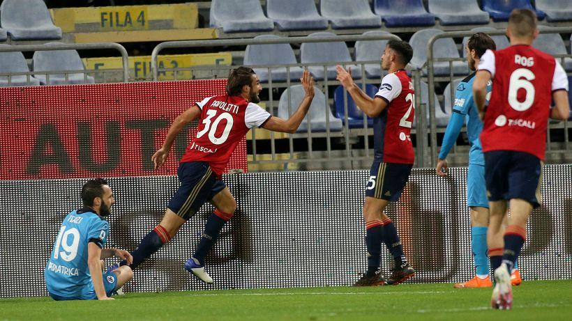 Gioia Pavoletti, ma non basta: a Cagliari lo Spezia fa 2-2