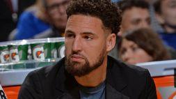 Grave infortunio per Klay Thompson, Warriors sotto choc
