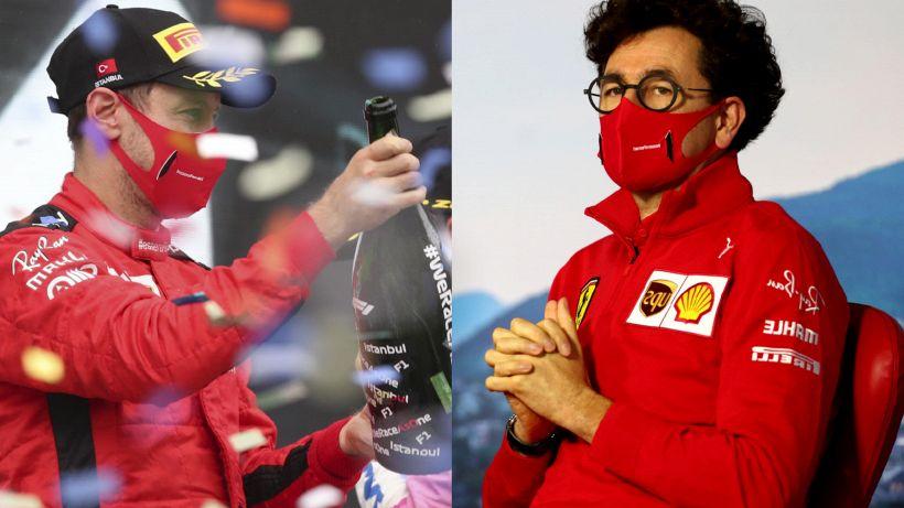 Ferrari, da Vettel bordate contro Binotto e la Formula 1