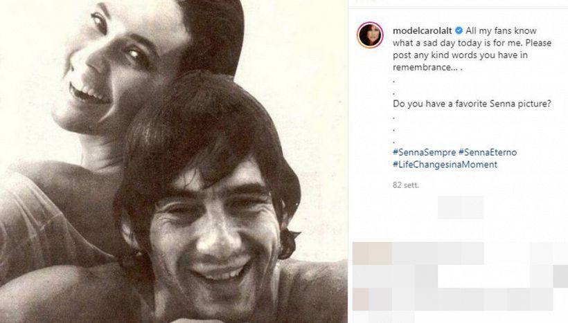 Ayrton Senna e Carol Alt, l'amore segreto che segnò un'epoca