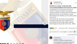 """Caso Casertana-Viterbese: """"Schierati due giocatori positivi"""""""