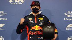 F1: Pole position per Max Verstappen, le foto