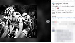 Ciclismo, morto Michael Antonelli: caduta fatale e poi il Covid