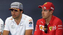 F1, c'è la conferma della Ferrari: Sainz ride, Vettel no
