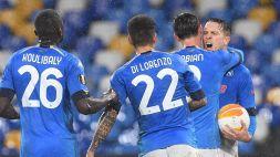 Europa League: il Napoli si qualifica, ko indolore per la Roma