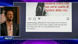 GF Vip, Andrea Zenga risponde in diretta al padre Walter