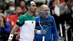 """Tennis: Barazzutti: """"Auguri a Volandri, resto a disposizione"""""""