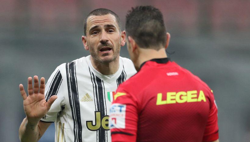 """Bonucci attacca l'arbitro per giallo in Inter-Juve: """"Vergognoso"""""""