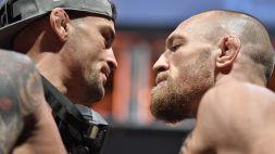 """MMA, McGregor provoca Poirier: """"Gli offrirò un intervento di rinoplastica"""""""