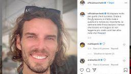 Marchetti e la sua Ferrari distrutta: la reazione su Instagram