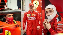 Ferrari, Sainz sfida un Leclerc guarito: novità Schumi a Fiorano