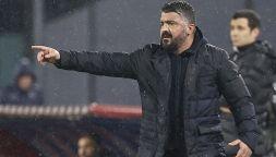 Napoli in crisi, Gattuso esplode nello spogliatoio: il retroscena