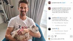 F1: Grosjean pubblica le foto delle ustioni sui social