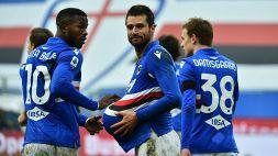 Sampdoria-Inter 2-1: Conte cade sotto i colpi degli ex