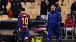 All'Athletic Bilbao la Supercoppa spagnola, Messi espulso