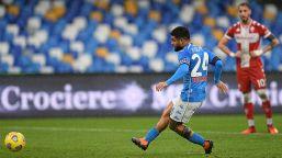 Napoli, Lorenzo Insigne al settimo cielo dopo il 6-0