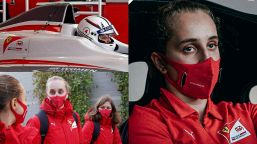 Ferrari, Maya Weug scrive la storia: prima donna pilota in rosso