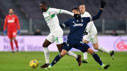 """Sassuolo, Obiang: """"Mi auguro che Chiesa stia bene"""""""