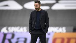 """Cagliari-Sassuolo, De Zerbi: """"Sbagliamo troppo sotto porta"""""""