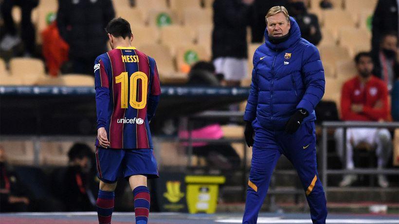 Barcellona, Ronald Koeman spera in uno sconto sulla squalifica di Messi