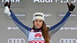 Sci: le foto della vittoria di Sofia Goggia a Crans-Montana