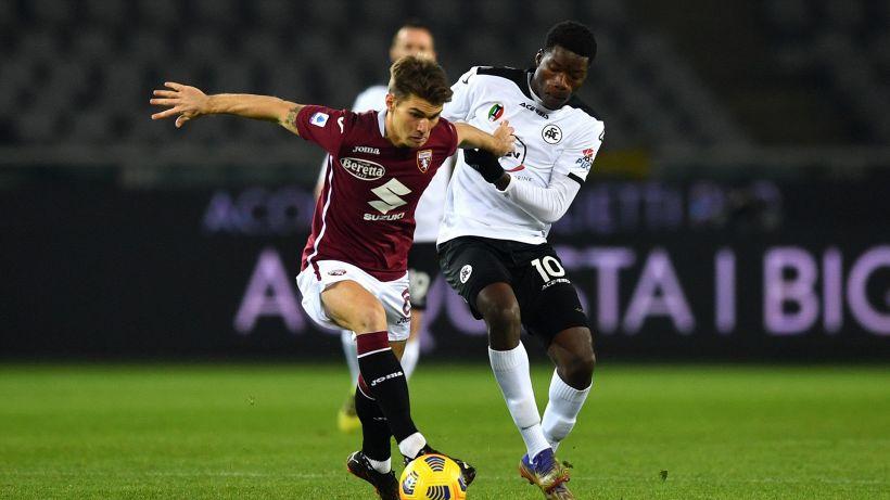 Il Torino si inceppa, lo Spezia strappa lo 0-0 in 10 contro 11