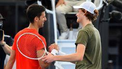 Sinner-Djokovic: le foto della prima sfida