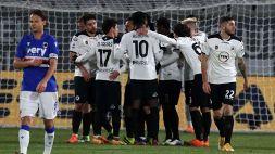 Spezia-Sampdoria 2-1: gli Aquilotti vincono il derby con i goal di Terzi e Nzola