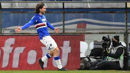 Cucchiaio di Candreva e gol di Torregrossa, la Samp rimonta e batte l'Udinese
