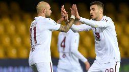 Il Torino rimonta il Benevento, decide Zaza nel recupero