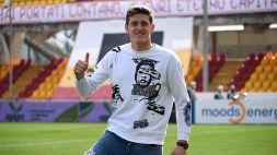 Benevento, Gaich cambia numero e sceglie la 7 per Imbriani