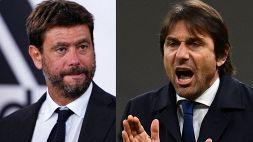 Juve-Inter, insulti e gestacci: il retroscena dello scontro Agnelli-Conte