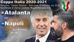 Coppa Italia 20-21, dove vedere Atalanta-Napoli in tv e streaming