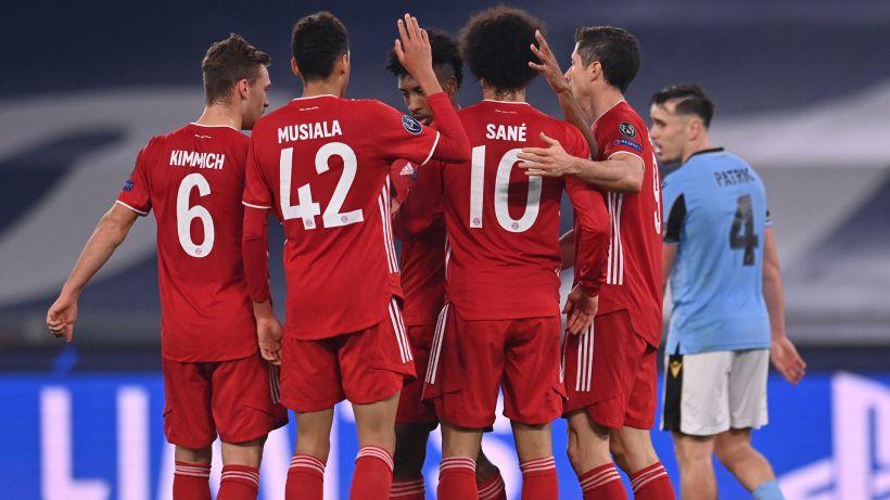 Lazio, quanti errori: dominata all'Olimpico, 4-1 Bayern