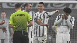 Juventus-Roma, il siparietto Cristiano Ronaldo-Orsato fa discutere