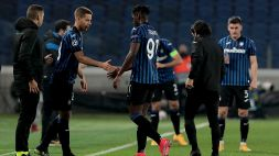 Atalanta-Real Madrid, infortunio per Duvan Zapata: fuori alla mezz'ora