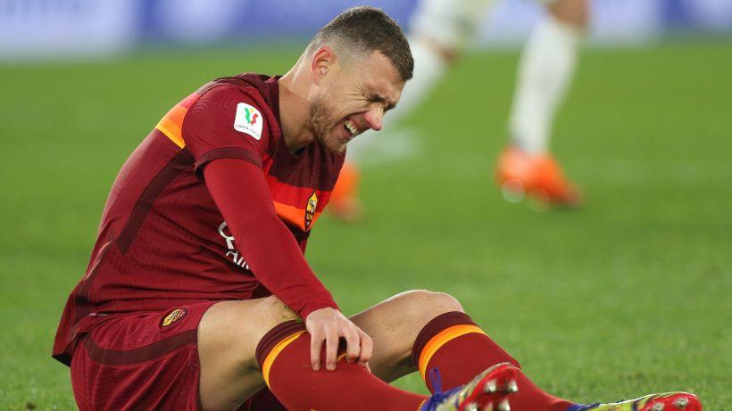 Roma, infortunio muscolare per Dzeko: Milan a rischio