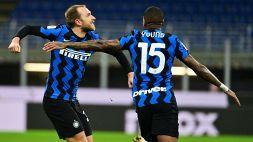 Juventus-Inter, le formazioni ufficiali: gioca Eriksen