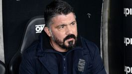 "Gattuso: ""De Laurentiis in tribuna? Non mi parla"""