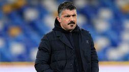 """Napoli-Granada, Gattuso: """"Abbiamo la forza per ribaltare il risultato"""""""