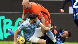 Inter-Lazio, Hoedt travolge Lautaro: la moviola. Inzaghi protesta