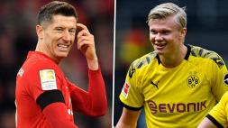 """Haaland: """"Lewandowski è pazzo, io faccio un goal e lui ne fa tre"""""""