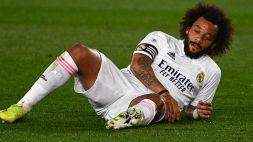 Atalanta-Real Madrid, altro problema per Zidane: Marcelo in grosso dubbio
