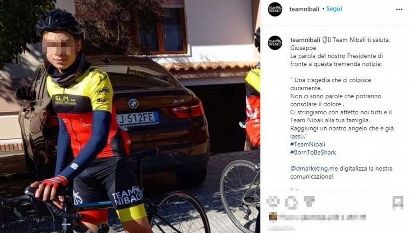 Tragedia in bici: muore Giuseppe Milone, promessa del Team Nibali