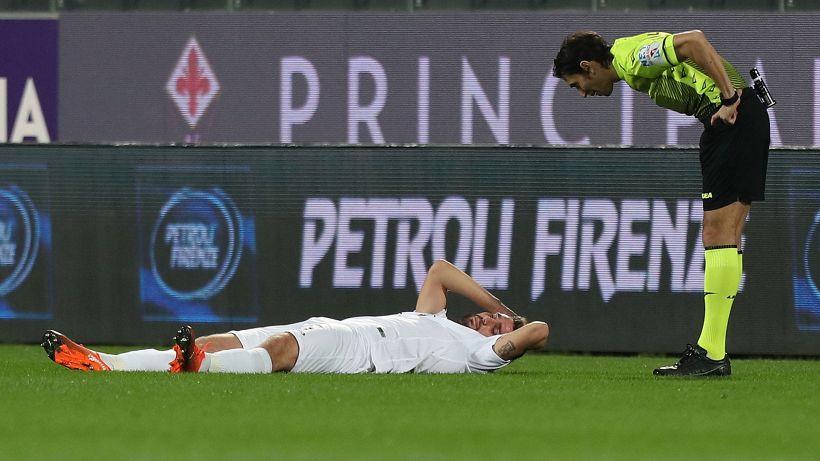 Fiorentina-Spezia, paura per Marchizza